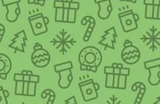 8 Christmas Line Icons Vector