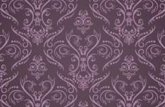 Purple Vintage Floral Pattern Vector