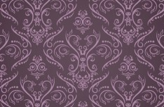 Purple Vintage Floral Pattern Vector