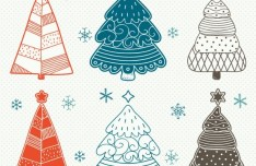 Simple Christmas Tree Design Vector