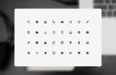 32 Minimal UI Icons PSD