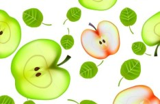 Creative Apples Background Vector