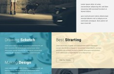 Creative Minimal Business Agency Web Template PSD