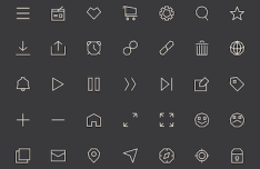 35 Line UI Icons Vector