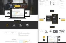 Ekomers App Landing Page Template PSD