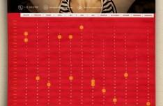 Red Calendar 2015 Template PSD