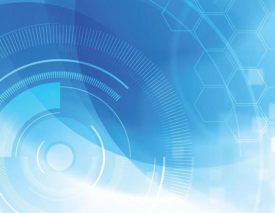 Free Blue Digital Background Vector