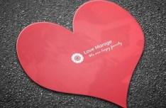 Heart Business Card Template PSD