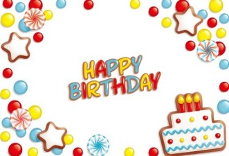 Sleek Happy Birthday Cartoon Background Vector