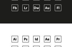 Adobe App Icon Set Vector