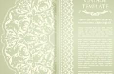 Elegant Floral Vintage Template Vector
