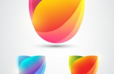 Abstract Flower Logos Vector