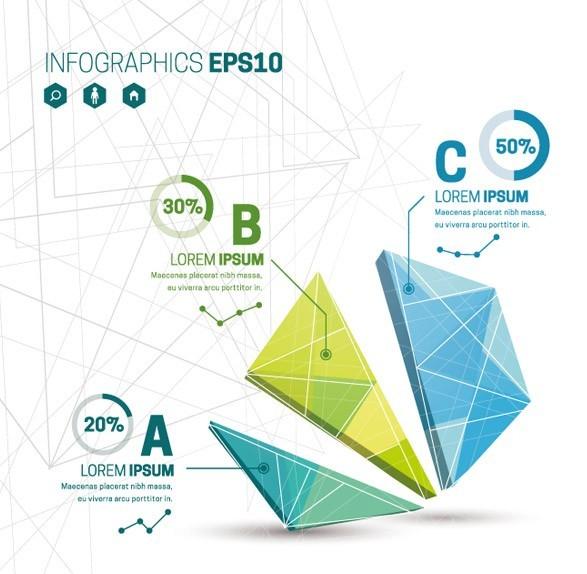 Creative Polygon Diagram For Infographic Vector