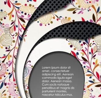 Elegant Floral & Metal Background Vector