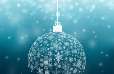 Blue Christmas Ball Of Snowflakes Vector