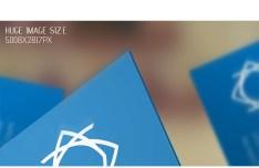 Blue Corporate Business Card Mockup PSD