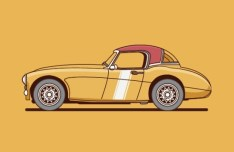 Vintage Car Vector Illustration