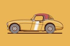 Vintage Car Vector Illustration