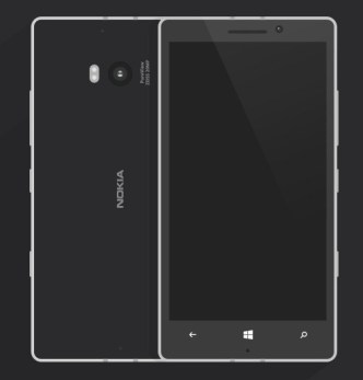 Flat Nokia Lumia 930 Template Vector