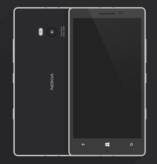 Flat Nokia Lumia 930 Template Vector