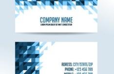 Blue Geometric Corporate Business Card Template Vector