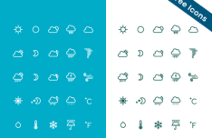 25 Weather Icons (AI+PSD)