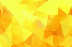 Bright Yellow Polygon Background Vector