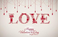 Beautiful Love Design For Valentine's Day Vector