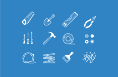 12 Tools Icons Vector
