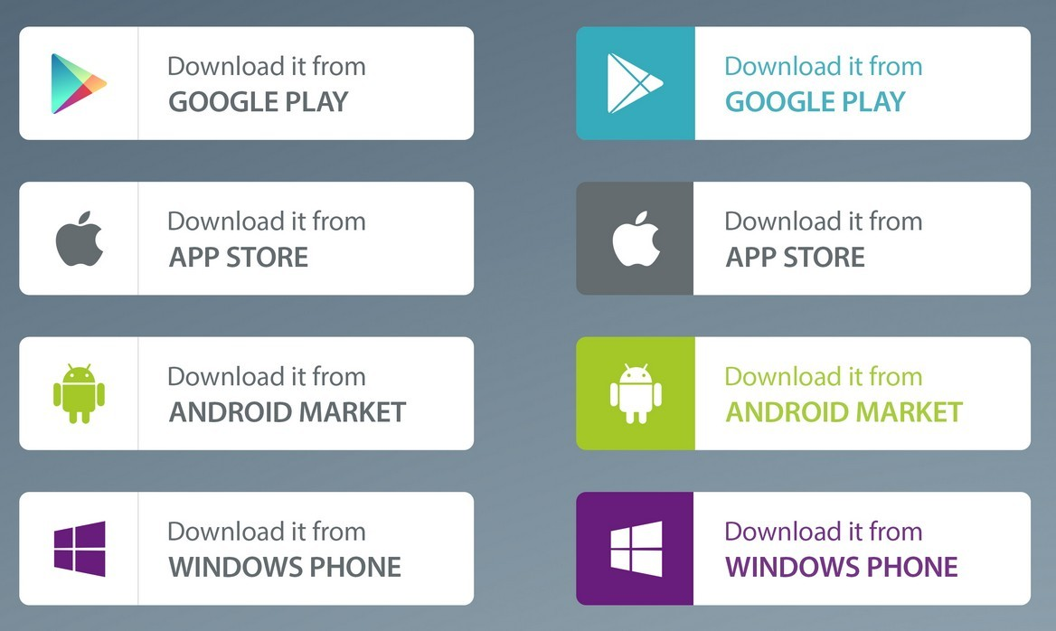 Free app market download buttons psd titanui Play store app