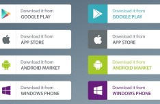 App Market Download Buttons PSD