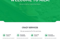AILA Simple Flat Web Template PSD
