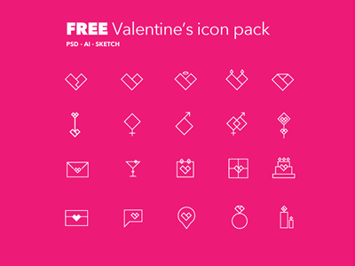 Valentine's Day Line Icon Pack