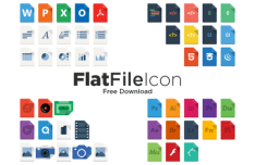 Flat File Icon Pack Vector