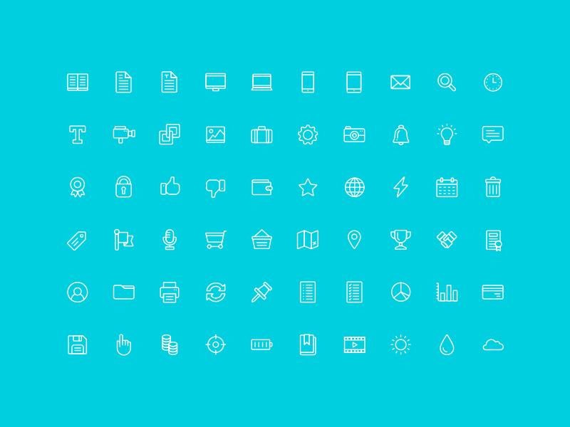 Free 96 Minimal UI Line Icons Vector - TitanUI