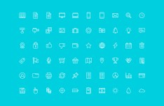 96 Outlined UI Icons Vector