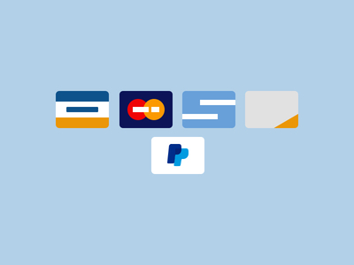 Flat Credit Card Icons PSD