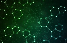 Green Particle Systems Background Vector