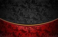 Vintage Red & Black Floral Background Vector