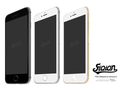 3 iPhone 6 Templates PSD