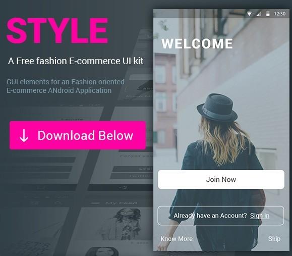 STYLE E-commerce App UI KIT PSD