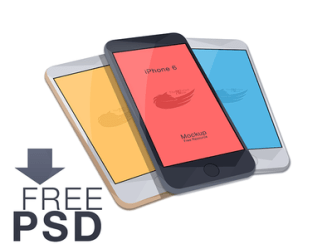 3 Colors iPhone 6 4.7-inch Mockup PSD