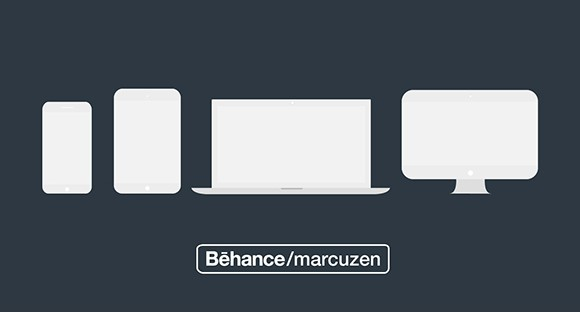 Apple Products Mockups Vector