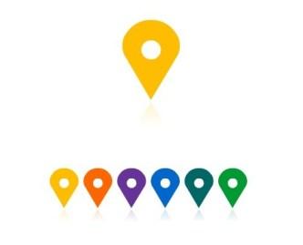Location Map Pins Vector