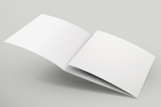 Blank 3 Tri-Fold Brochure Template Vector
