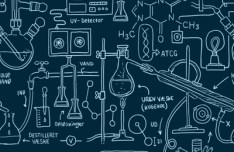 Hand Drawn Science Pattern PSD