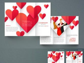 Love Heart Company Brochure Vector
