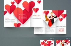 Love Heart Company Brochure Vector