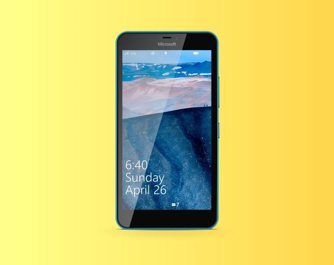 Lumia 640 XL Vector Template