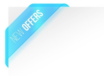 New Offers Corner Ribbon Vector